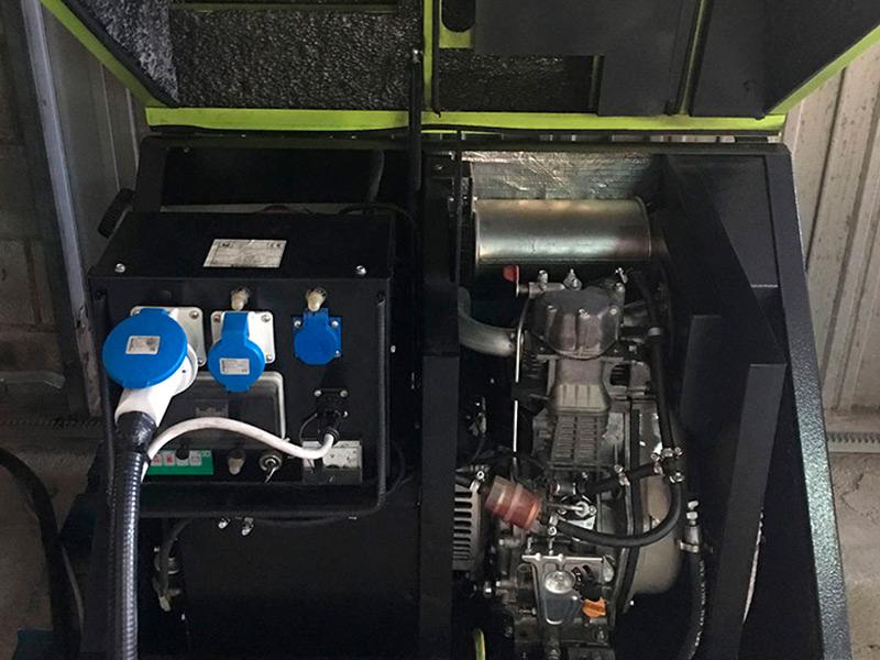 Reparación de generador eléctrico